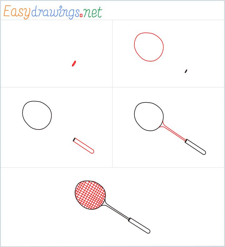 Badminton racket drawing Overview