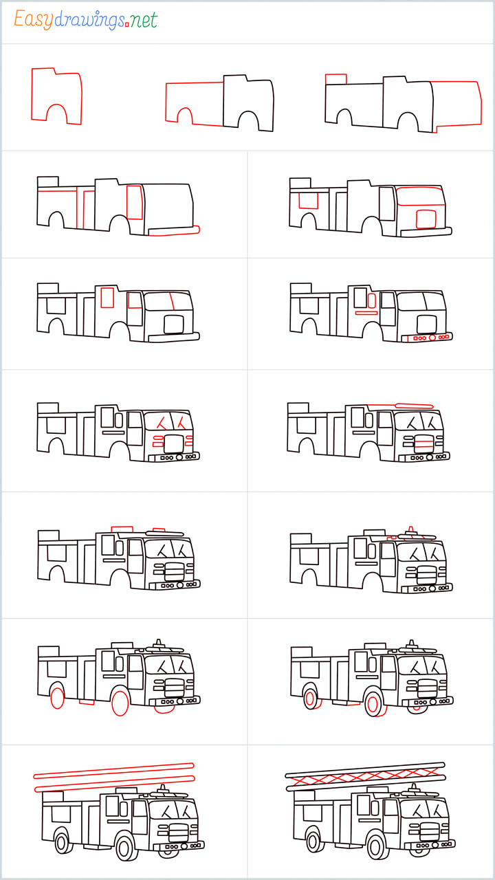 Fire truck drawing Overview