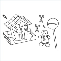 Gingerbread House drawing