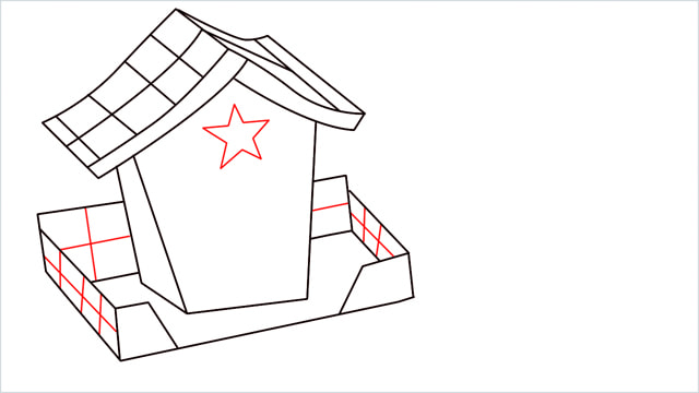 How to Draw a Gingerbread House step (10)
