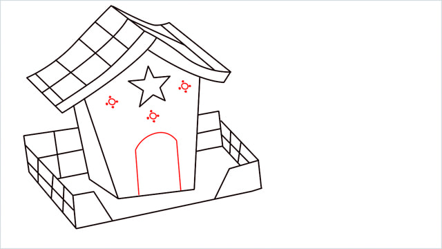 How to Draw a Gingerbread House step (11)