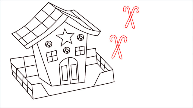 How to Draw a Gingerbread House step (14)