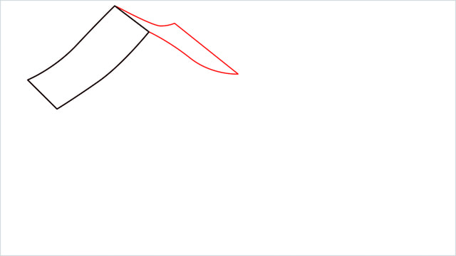 How to Draw a Gingerbread House step (2)