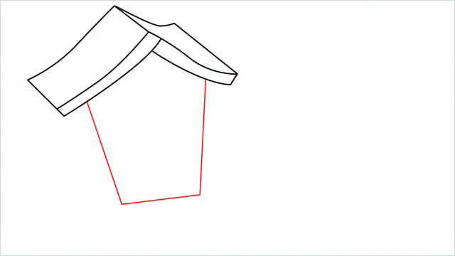 How to Draw a Gingerbread House step (4)