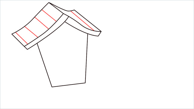 How to Draw a Gingerbread House step (5)