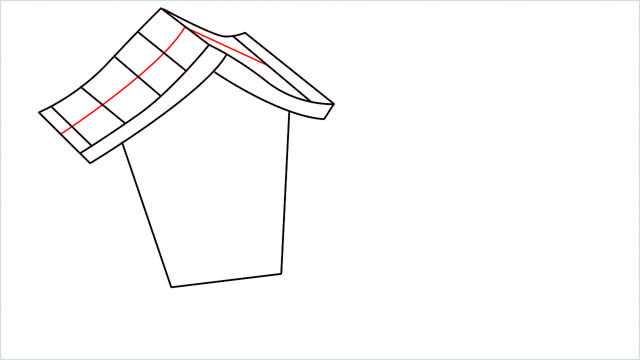 How to Draw a Gingerbread House step (6)