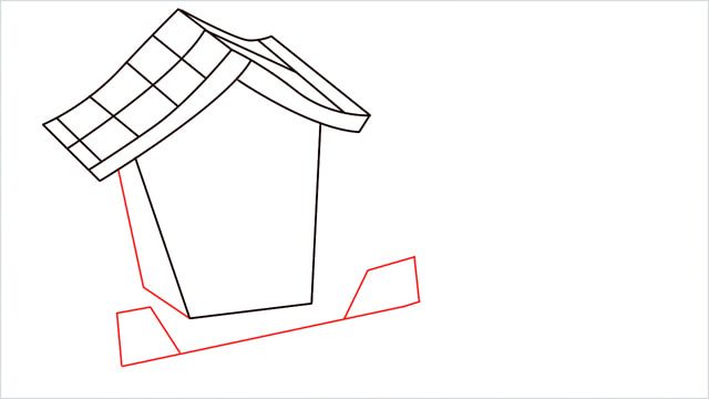 How to Draw a Gingerbread House step (7)