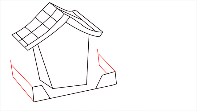 How to Draw a Gingerbread House step (8)