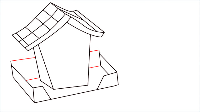 How to Draw a Gingerbread House step (9)