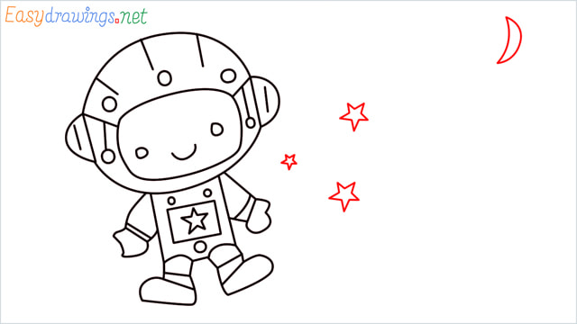 How to draw An astronaut step (11)