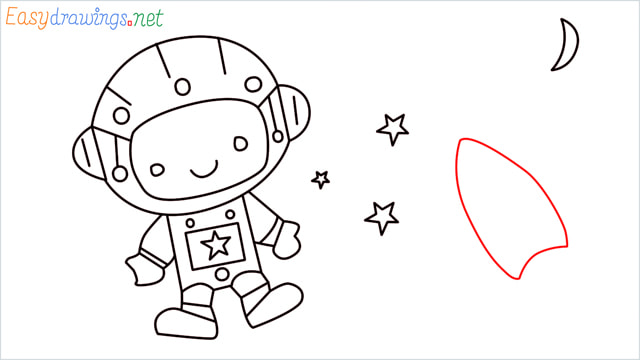 How to draw An astronaut step (12)