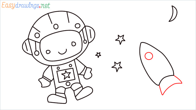 How to draw An astronaut step (13)