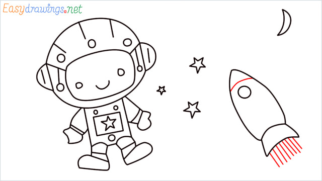 How to draw An astronaut step (14)