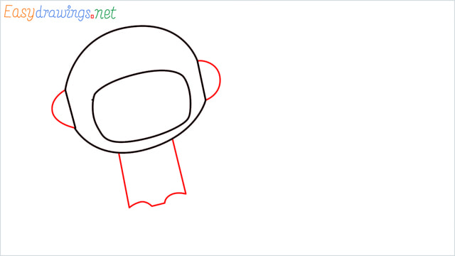 How to draw An astronaut step (4)