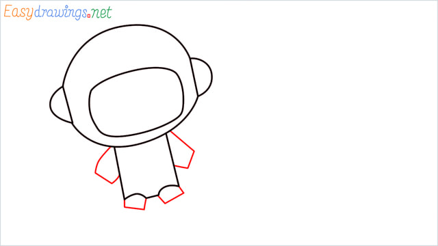 How to draw An astronaut step (5)