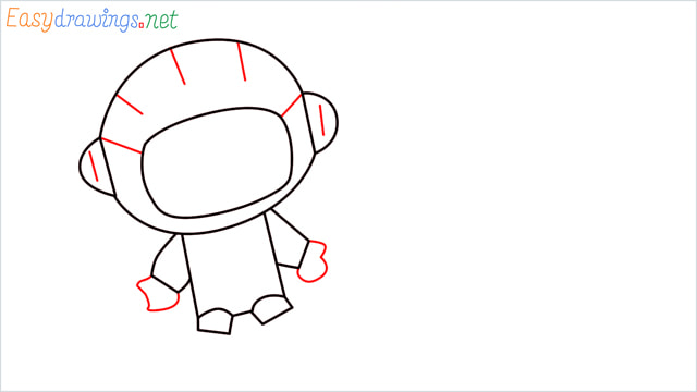 How to draw An astronaut step (6)
