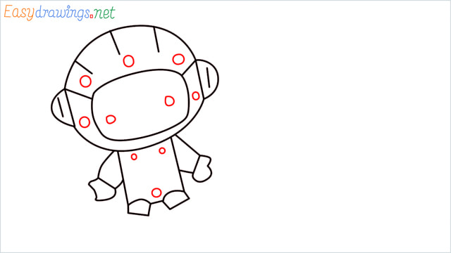 How to draw An astronaut step (7)