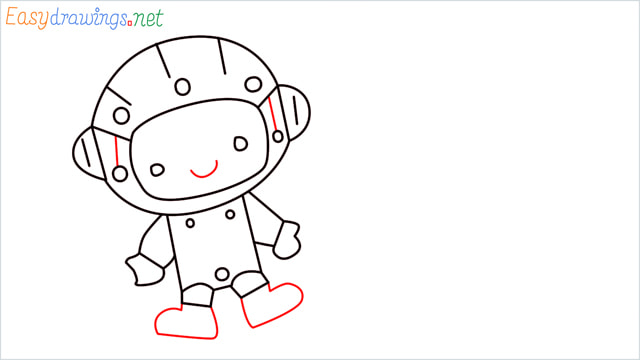 How to draw An astronaut step (8)