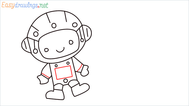 How to draw An astronaut step (9)
