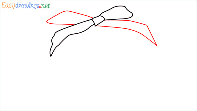 How to draw Christmas presents box step (3)