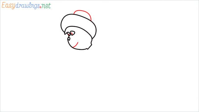 How to draw The grinch step (4)