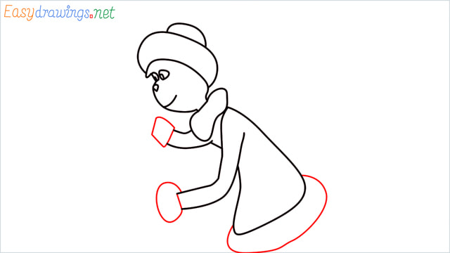 How to draw The grinch step (8)