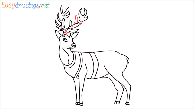 How to draw a Reindeer step (16)