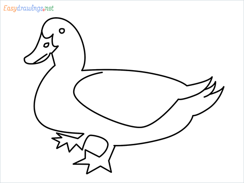 duck drawing for kids step by step for beginners