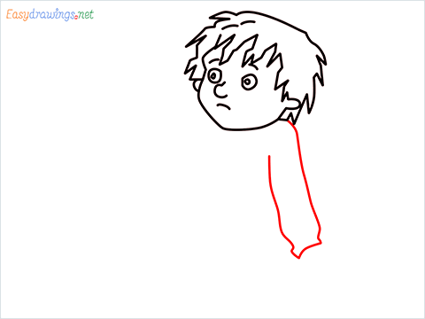 how to draw Horrid Henry step (6)