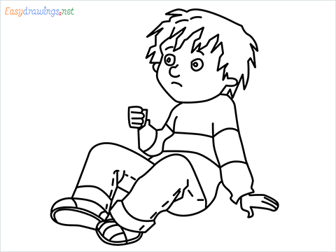how to draw Horrid Henry step by step for beginners
