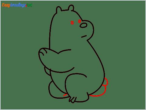 how to draw Ice Bear step (8)