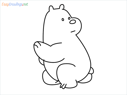 how to draw Ice Bear step by step for beginners
