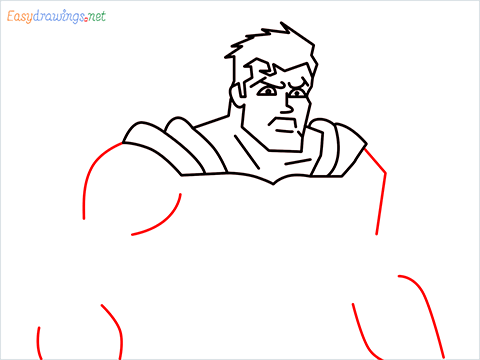 how to draw Justice League superman step (10)