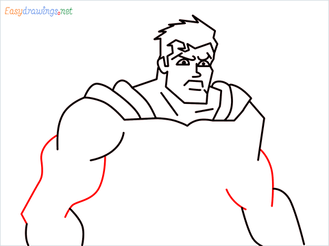 how to draw Justice League superman step (11)