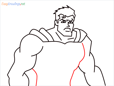 how to draw Justice League superman step (12)