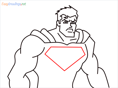 how to draw Justice League superman step (13)