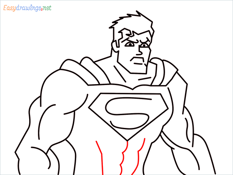 how to draw Justice League superman step (15)