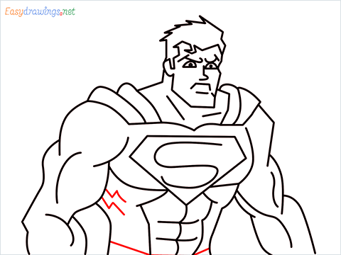 how to draw Justice League superman step (17)