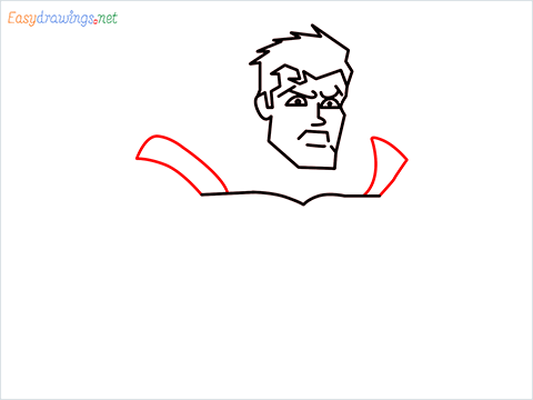 how to draw Justice League superman step (7)
