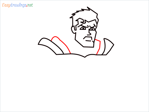 how to draw Justice League superman step (8)