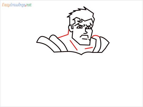 how to draw Justice League superman step (9)