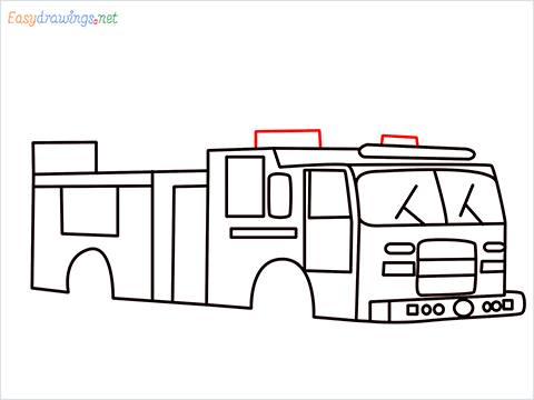 how to draw a fire engine truck step (10)