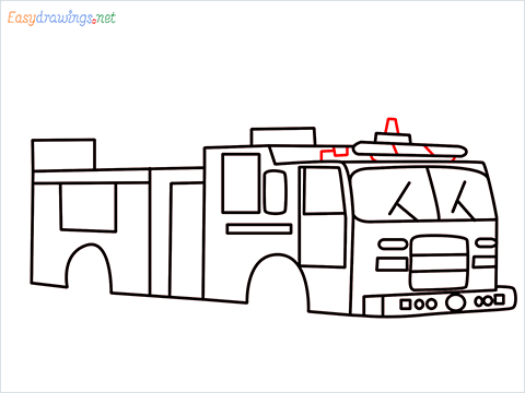 how to draw a fire engine truck step (11)