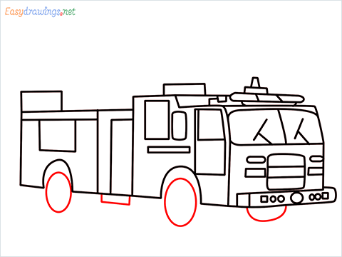 how to draw a fire engine truck step (12)