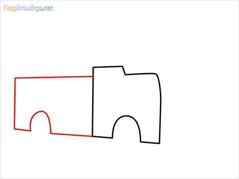 how to draw a fire engine truck step (2)
