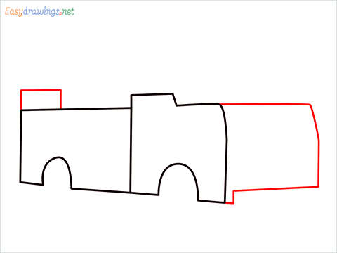 how to draw a fire engine truck step (3)