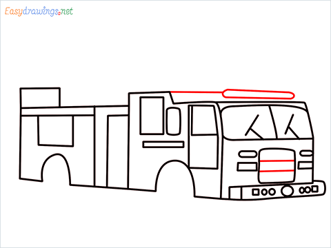 how to draw a fire engine truck step (9)
