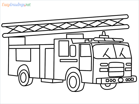how to draw a fire engine truck step by step for beginners