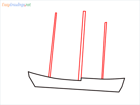 how to draw a pirate ship step (2)