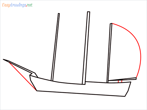 how to draw a pirate ship step (4)